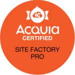 Acquia Certified Site Factory Pro Badge