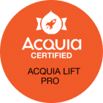 Acquia Certified Lift Pro badge