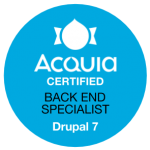 Acquia Certified Back End Specialist Drupal 7 Badge