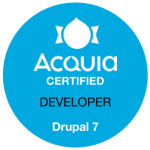 Acquia Certified Developer Drupal 7 Badge