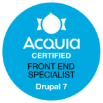 Acquia Certified Front End Specialist Drupal 7 Badge