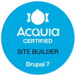 Acquia Certified Site Builder Drupal 7 Badge