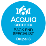 Acquia Certified Back End Specialist Drupal 8 Badge