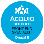 Acquia Certified Front End Specialist Drupal 8 Badge