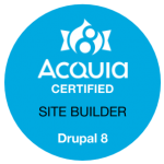 Acquia Certified Site Builder Drupal 8 Badge