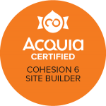 Badge showing Acquia Certified Cohesion Site Builder