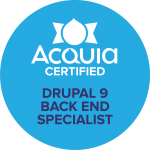 Acquia Certified Back End Specialist Drupal 9 Badge
