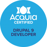 Acquia Certified Developer Drupal 9 Badge