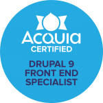 Acquia Certified Front End Specialist Drupal 9 Badge