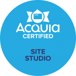 Badge showing Acquia Certified 6  Site Studio Site Builder